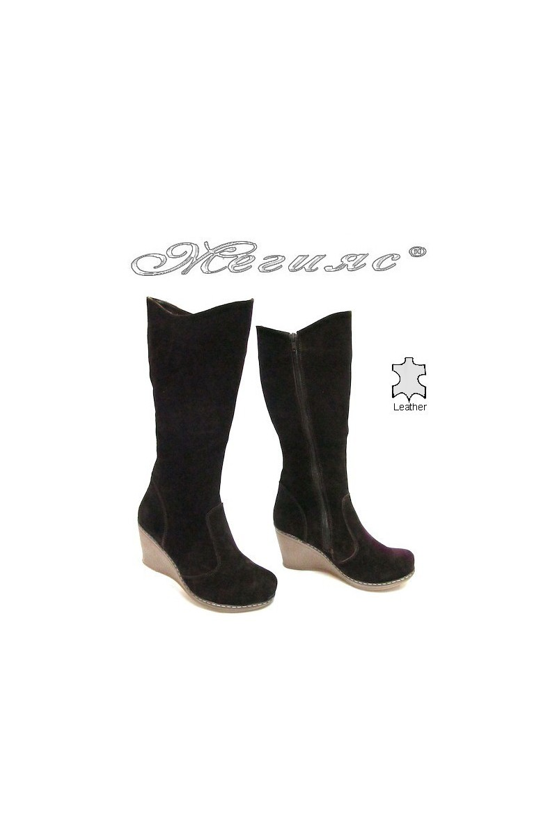 Lady boots 118 brown suede