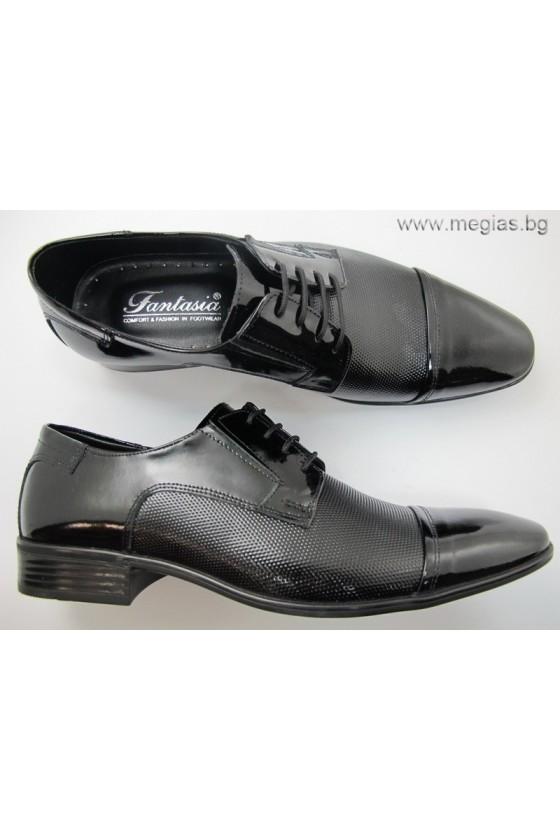 Мъжки обувки fant.11-lak.tochki-estestvena koja