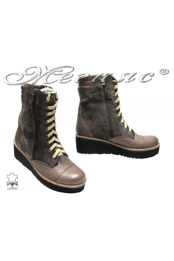 Lady boots sens-150 beige