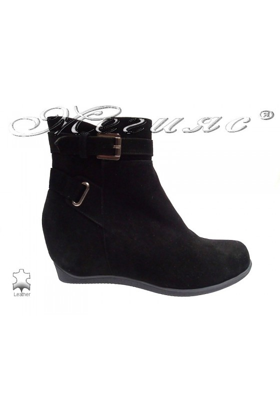 Lady boots 1800 black suede
