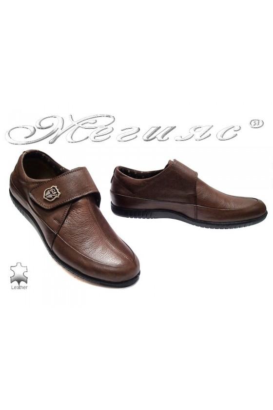 Мъжки обувки 610-25 кафяви естествена кожа