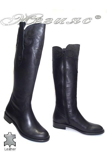 Дамски ботуши 3329 black естествена кожа