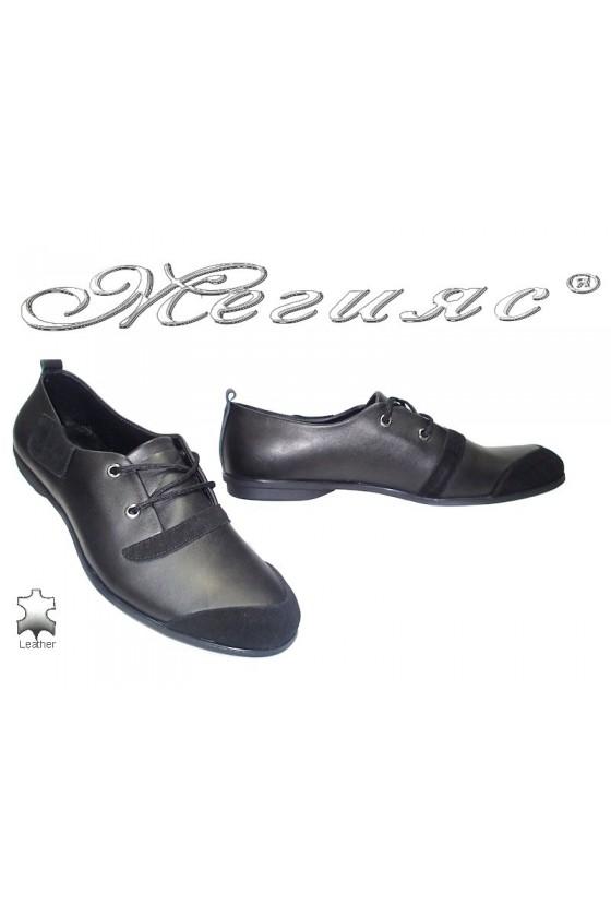 Мъжки обувки 007 черни естетсвена кожа