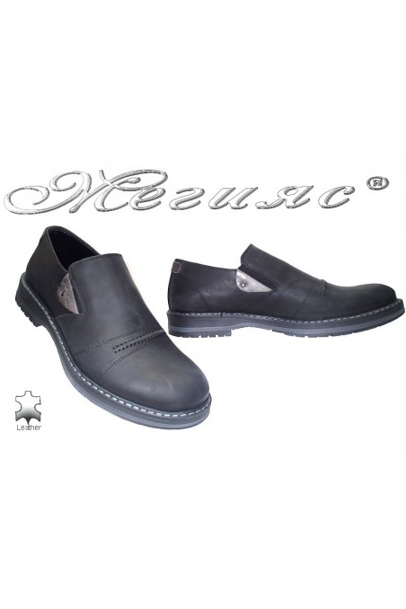 Men's shoes 9043 black suede
