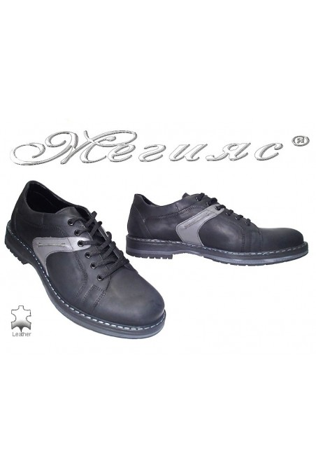 Men's shoes 9044 black suede