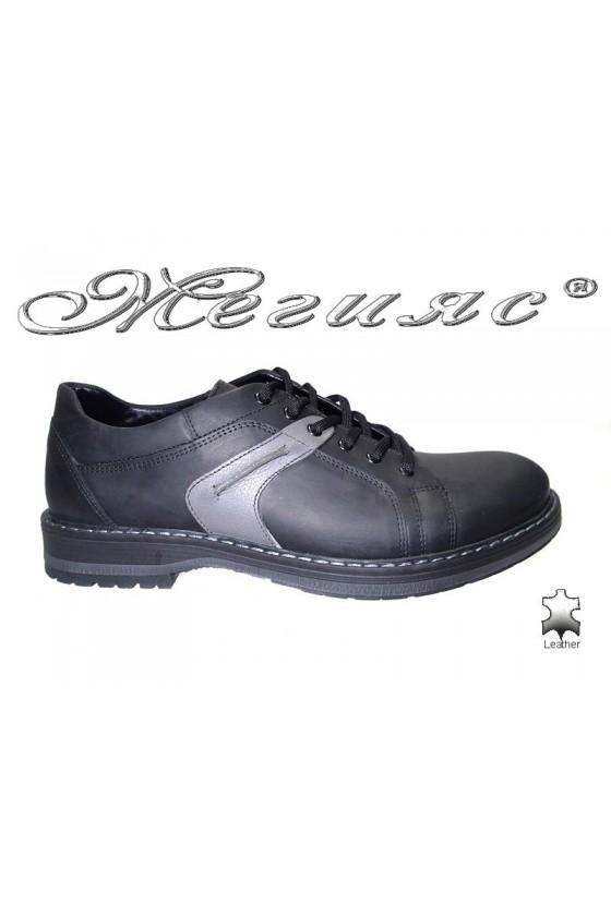 Мъжки обувки Фантазия 9044 черни естествен набук