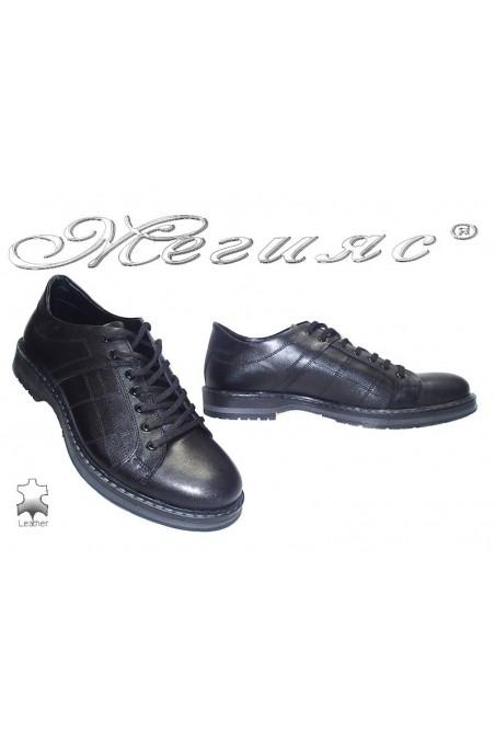 Мъжки обувки Фантазия 9042 черни естествена кожа