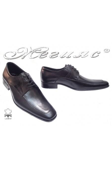 Мъжки обувки Фантазия 40 черно естествена кожа