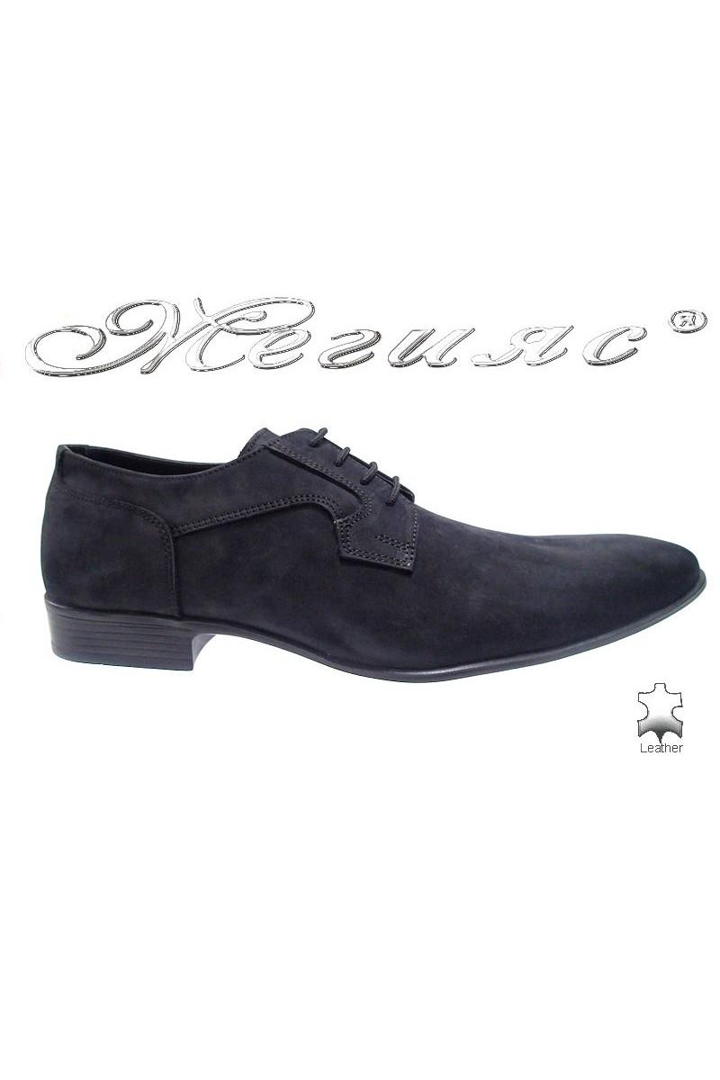 men's shoes 8002 black suede