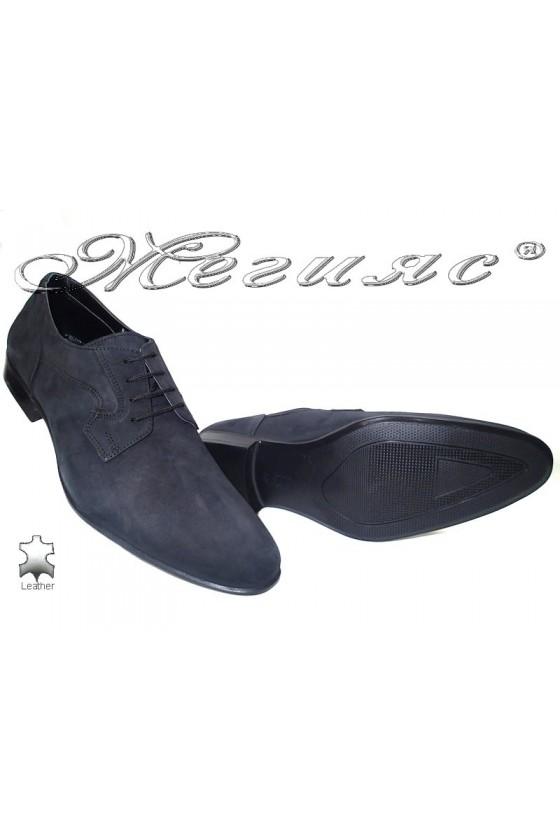 Мъжки обувки Фантазия 8002 черно набук естествена кожа