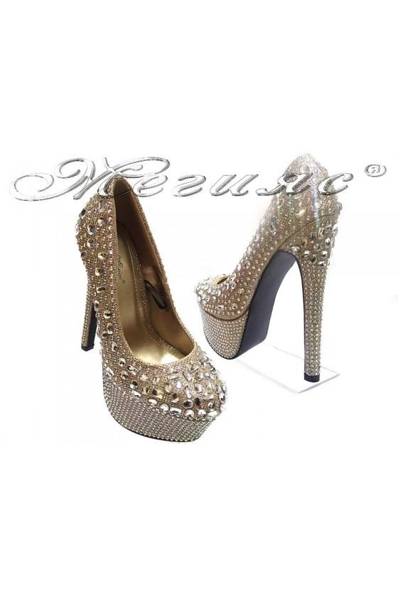 Дамски обувки TINA 114-300 gold