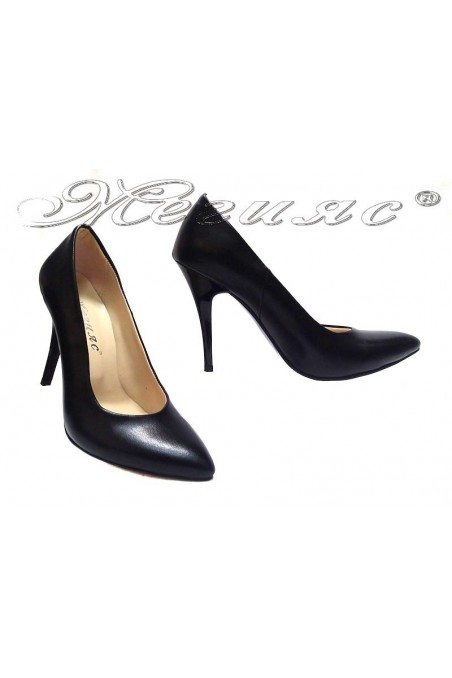 Women elegant shoes 162 black high heel pu