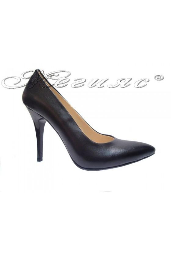 Women elegant shoes 162 black  high heel pu
