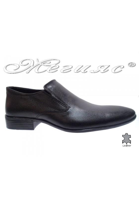 Мъжки обувки Фантазия Р-14 черно естествена кожа