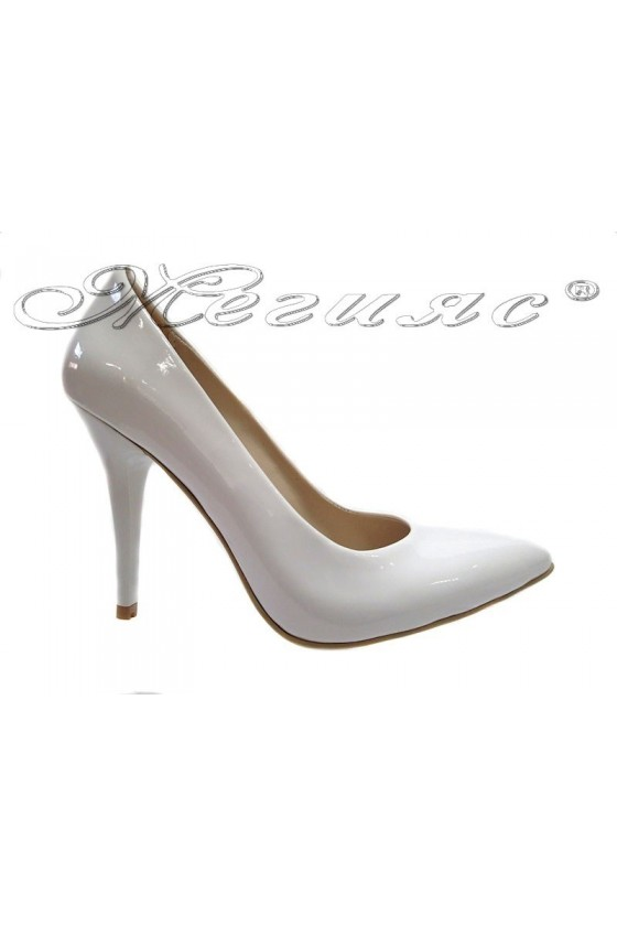Ladies elegant shoes 162 wine high heel pu