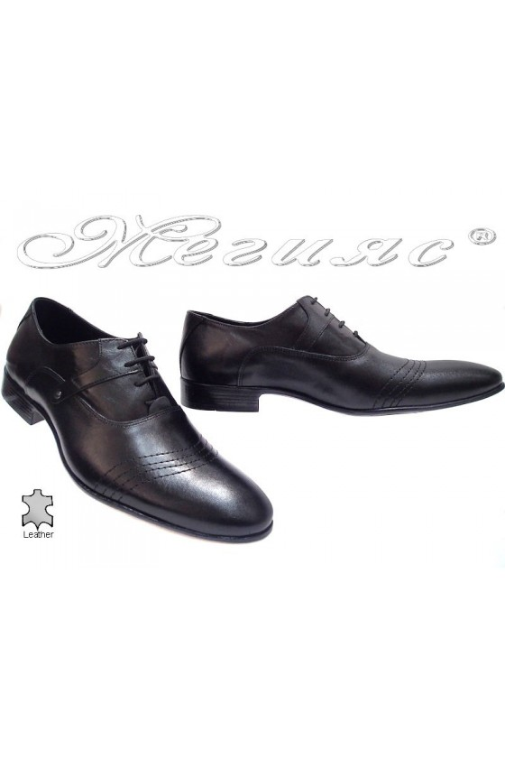 Мъжки обувки Фантазия 8001 черно естествена кожа