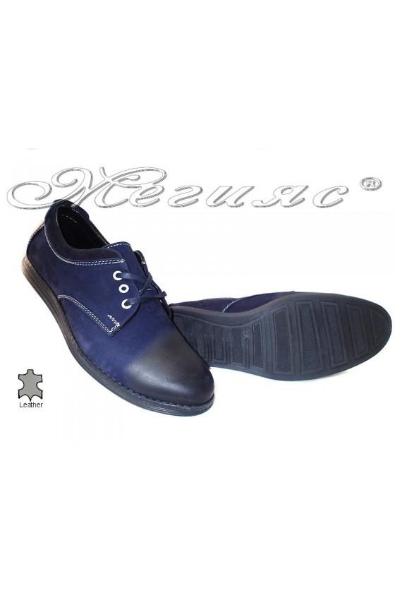 Мъжки обувки 262 сини естествена кожа