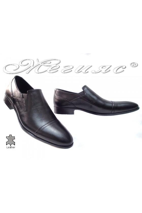 Мъжки обувки Фантазия 6011 черни естествена кожа