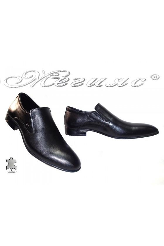 Мъжки обувки Фантазия 6039 черни естествена кожа