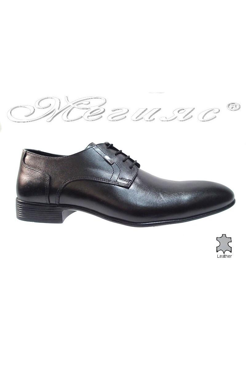 Мъжки обувки Фантазия 6040 черни естествена кожа