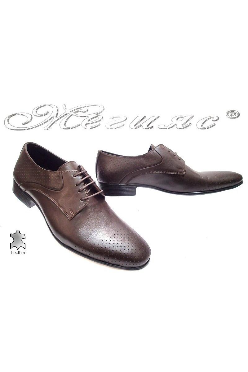 Мъжки обувки Sharp 801 brown estestvena koja