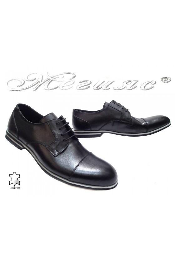 Мъжки обувки Sharp 913 black estestvena koja