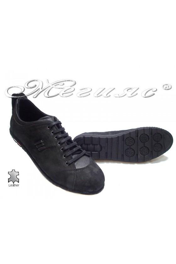 Мъжки обувки гигант XXL 05 черни набук