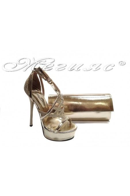 Shoes114-432 gold+bag 373