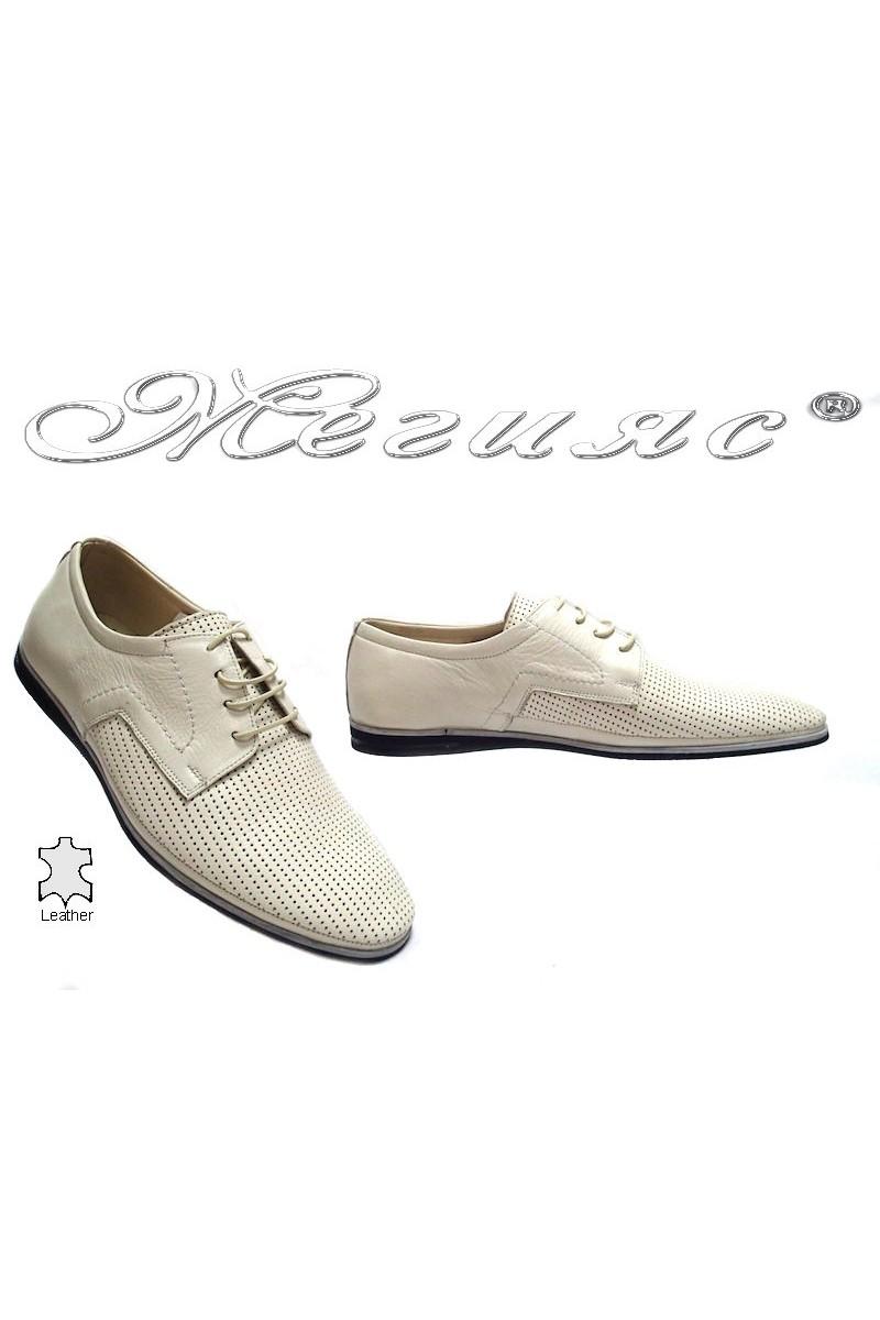 Мъжки обувки Фантазия 027-010 бежови естествена кожа