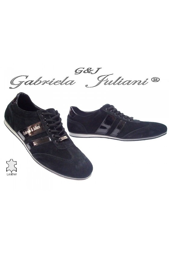 men's shoes 1003-04 black suede
