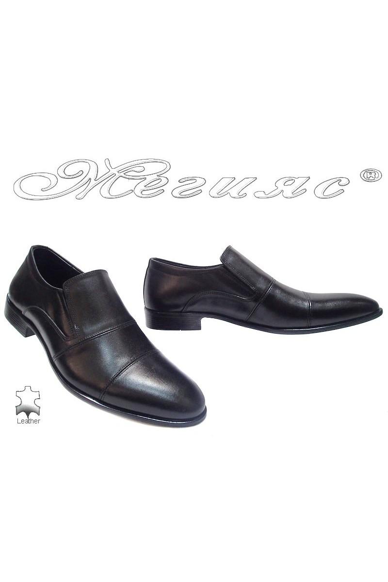 Мъжки обувки Фантазия 6004 черни естествена кожа