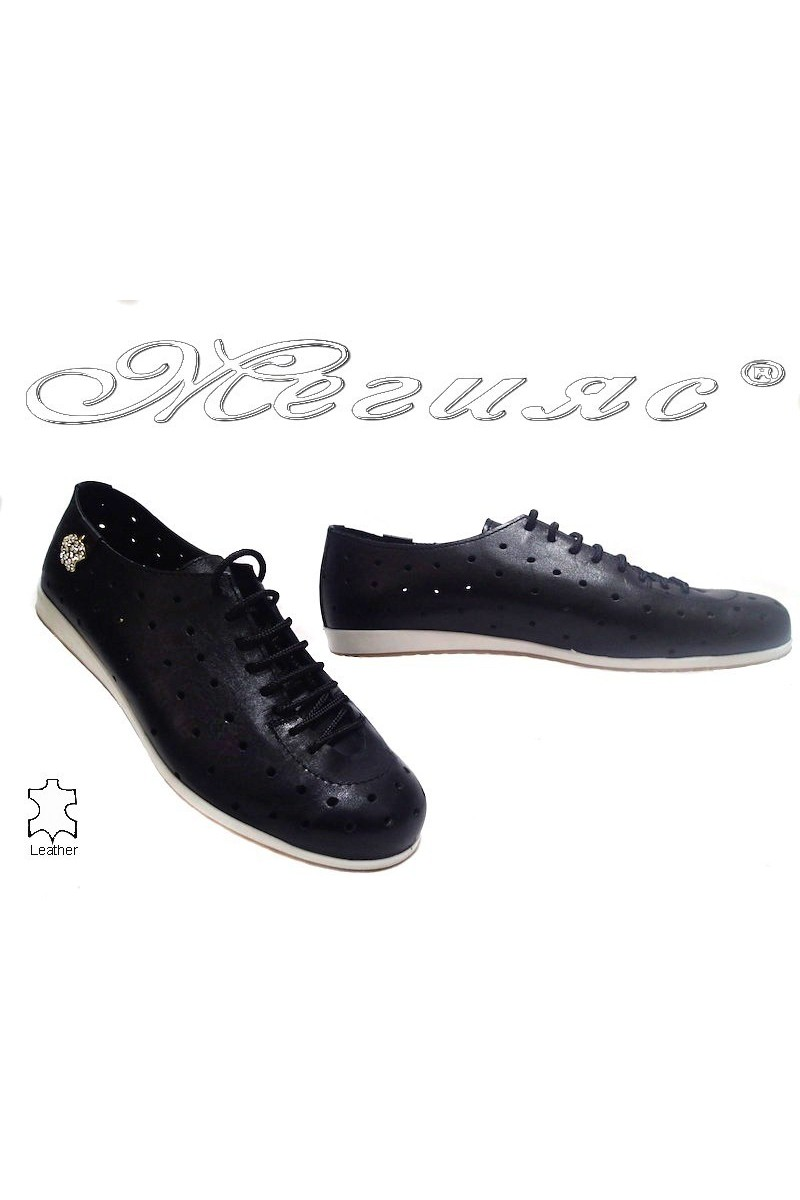 Дамски обувки 3116 черни естествена кожа