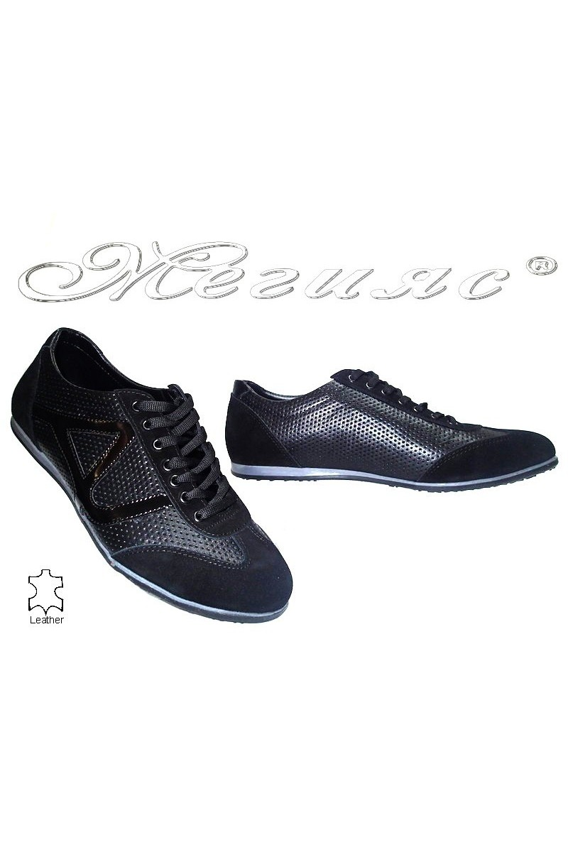 Мъжки обувки 10-312 черни естествена кожа