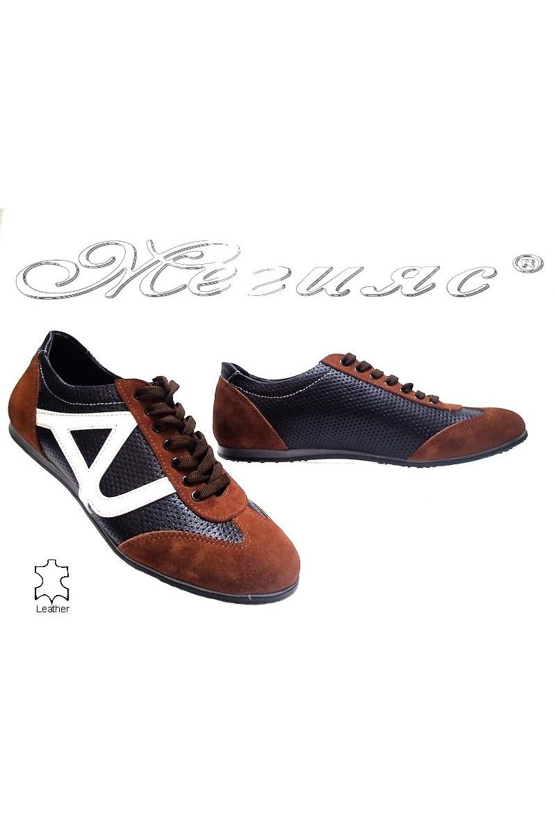 Мъжки обувки 10-312 кафяви естествена кожа