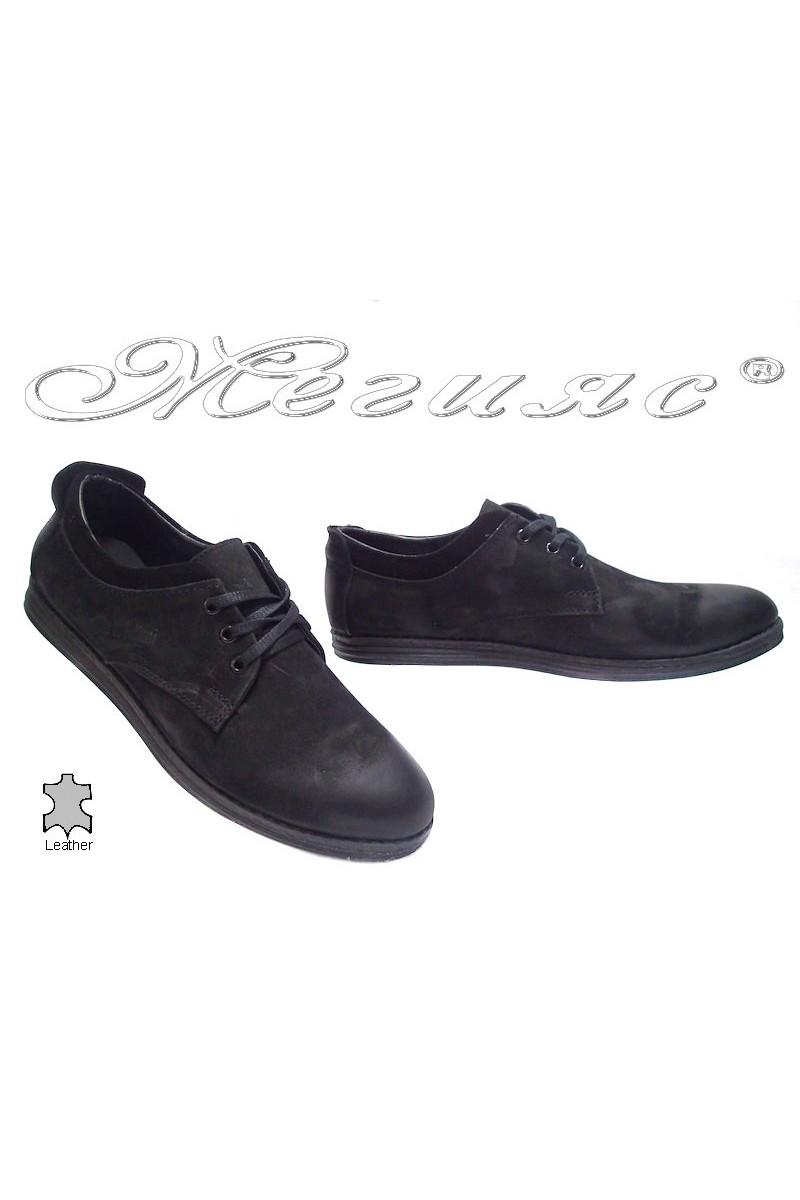 Мъжки обувки 262 черни естествена кожа