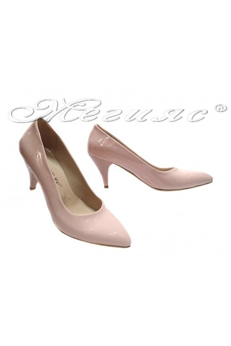 Women elegant shoes 117 pink low heel pu