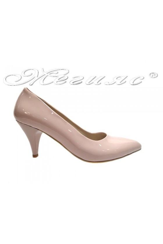 Women  elegant  shoes 117 pink low  heel pu