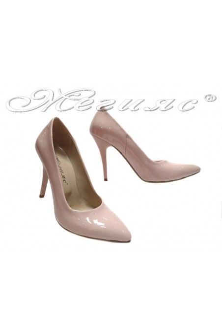 Ladies elegant shoes 162 pink high heel pu