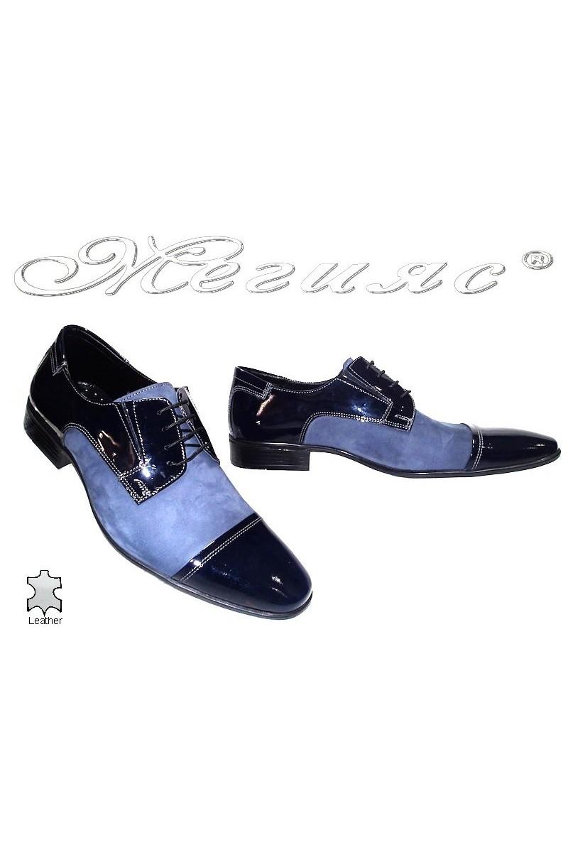 Мъжки обувки Фантазия 11-P сини естествена кожа