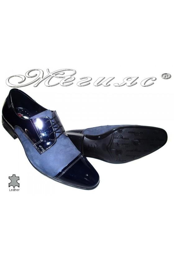Мъжки обувки естествена кожа сини Фантазия 11-P
