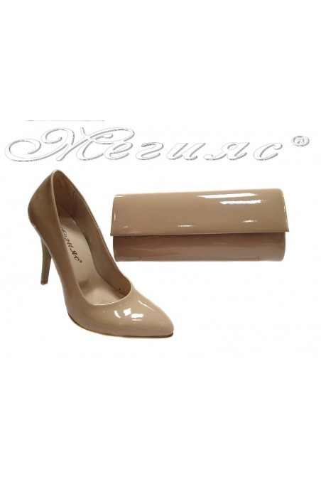 shoes 162 beige+bag 373 beige