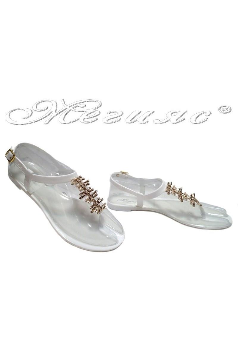 Дамски сандали Pan 114-523 бели