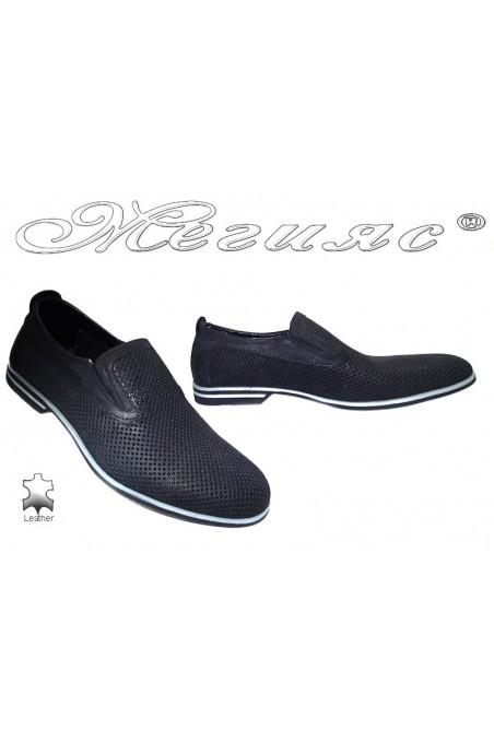 Мъжки обувки Sharp 920 черни набук естествена кожа