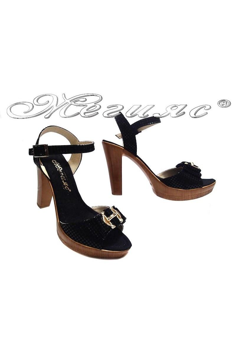 Дамски сандали 161 черни