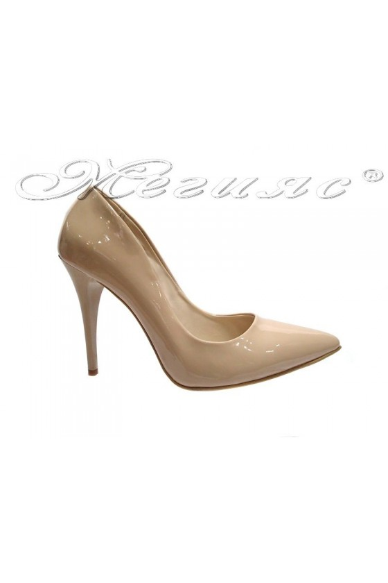 Lady elegant  shoes 1800 beige patent  high heel