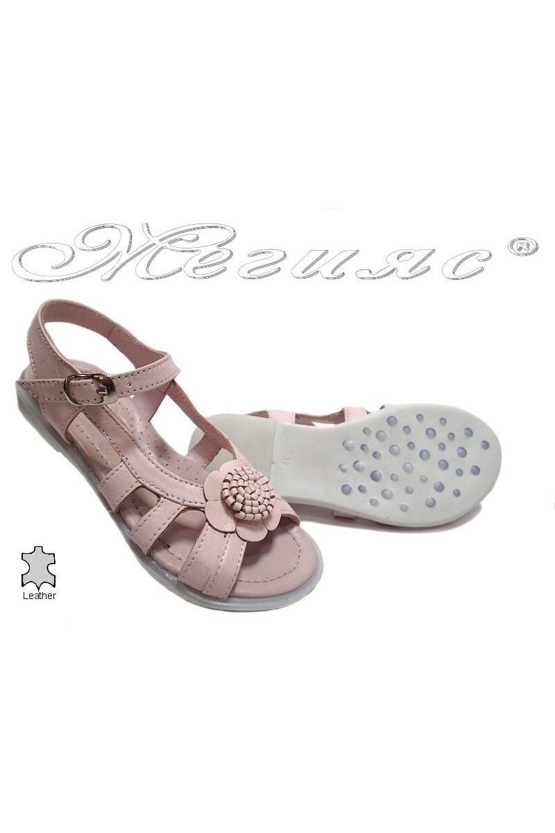 Детски сандали 54 розови естествена кожа