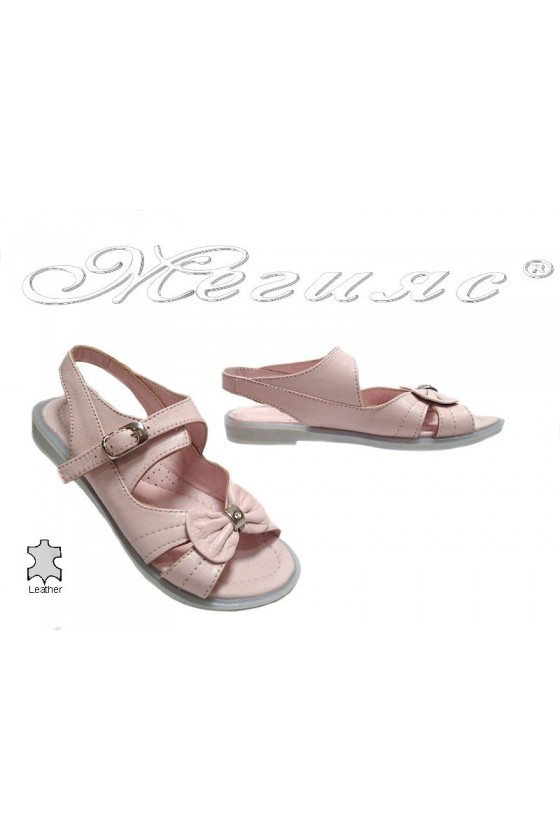 Детски сандали 52 розови естествена кожа