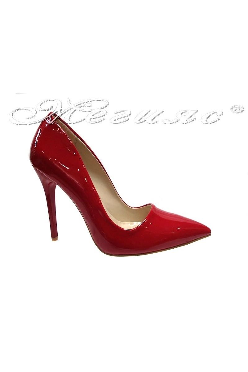 Дамски обувки 5596 червени лак