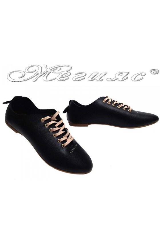 Women casual sport shoes 102/103 black pu