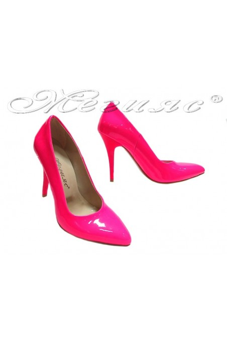 Lady elegant shoes 162 pink patent high heel